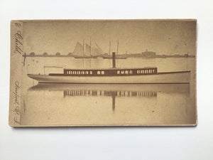 Antique CV Card Photograph of Herreshoff Boat 1883