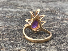 Load image into Gallery viewer, 10k Yellow Gold & Amethyst in Flames Ladies Ring