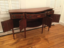 Load image into Gallery viewer, Antique Inlaid Mahogany Buffet Server with USS Constitution Pulls ~Salem, Mass~