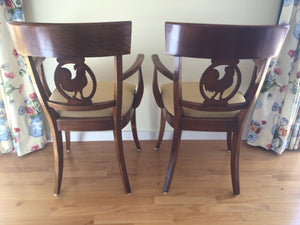 Pair of Designer Rooster Side Chairs from Newport Estate