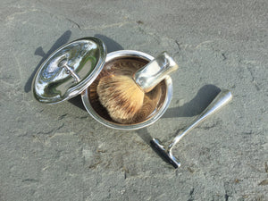 Tiffany & Co. Sterling Silver Shaving Set Designed by Elsa Peretti