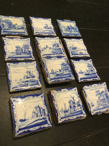 Antique Set of Delft Blue & White Tiles