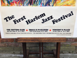 First Harlem Jazz Festival Poster by Kamil Kubik 1978