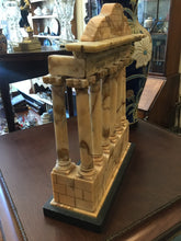 Load image into Gallery viewer, Antique Grand Tour Sienna Marble Roman Architectural Sculpture on Plinth
