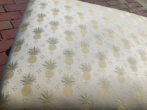 Antique Ottoman Footstool Adjustable with Pineapple Fabric