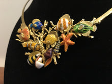 Load image into Gallery viewer, Enamel Over 18k Gold Sea Life Necklace by Kabana