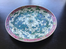 Load image into Gallery viewer, Chinese Green Double Dragons Charger Plate ~Circa 1900~