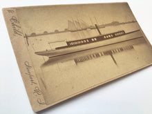 Load image into Gallery viewer, Antique CV Card Photograph of Herreshoff Boat 1883