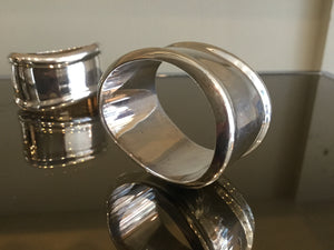 Tiffany & Co. Sterling Silver napkin rings (set of 6) designed by Elsa Peretti in Italy