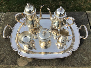 Antique Sterling Silver Tea Set by Frank Whiting Co.