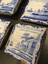 Load image into Gallery viewer, Antique Set of Delft Blue & White Tiles