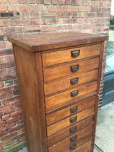Load image into Gallery viewer, Antique cabinet with 11 drawers and pull-out shelf