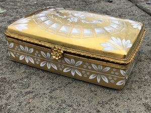 Antique Limoges Private Hock Porcelain Box For Tiffany & Co.
