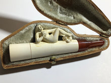 Load image into Gallery viewer, Antique Meerschaum of Austria Miniature Pipe Cigar Holder