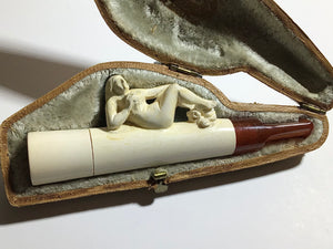 Antique Meerschaum of Austria Miniature Pipe Cigar Holder