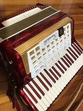 Load image into Gallery viewer, Scandalli of Italy Red Pearlized Accordion in Case