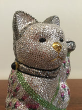 Load image into Gallery viewer, Judith Leiber Minaudiere Maneki Neko Waving Cat Bag Purse in Box