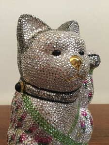 Judith Leiber Minaudiere Maneki Neko Waving Cat Bag Purse in Box