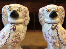 Load image into Gallery viewer, Antique Staffordshire Porcelain Dogs Pair
