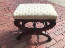 Load image into Gallery viewer, Antique Ottoman Footstool Adjustable with Pineapple Fabric