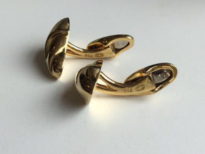Georg Jensen 18k Gold Cuff Links by Ole Kortzau Model 870