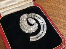 Load image into Gallery viewer, Antique Art Deco Period Cartier Diamonds & Platinum Pin Brooch