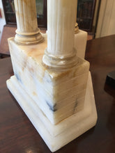 Load image into Gallery viewer, Pair of Antique World Tour Roman Architectural Sculptures in Sienna marble and Alabaster