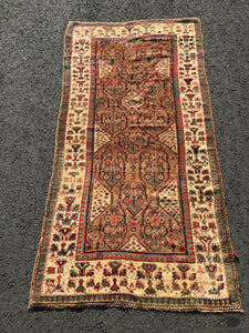 Antique Persian Serab Kurd Rug Circa 1900 ~8' x 4'~