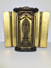 Load image into Gallery viewer, Japanese Black Lacquer Butsudan Buddha Altar with Gold Gilt Interior