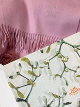 Load image into Gallery viewer, Hermes Cashmere Stole From Scotland Rose Bruyere ~70cm x 175cm~ in Box