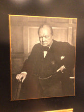 Load image into Gallery viewer, Winston Churchill Framed Picture, Quote & Autograph by Hamilton Autographs Inc. NY