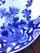 "Load image into Gallery viewer, Large Antique Asian Blue & White Charger Plate ~16"" Diameter~"