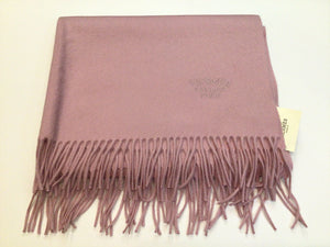 Hermes Cashmere Stole From Scotland Rose Bruyere ~70cm x 175cm~ in Box