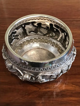 Load image into Gallery viewer, Antique Indian Lucknow Silver Hunting Bowl Circa 1890's