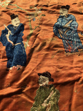 "Load image into Gallery viewer, Antique Chinese Silk Tapestry Wall Hanging ""Qing Period"""