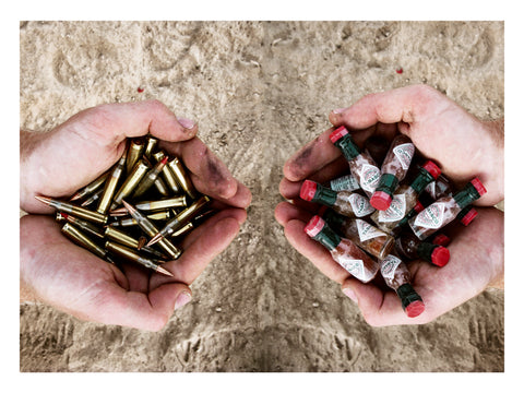 #9. Bullets and Tabasco Print