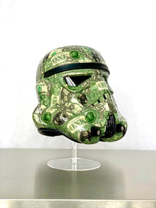 Stormtrooper Helmet Collaged in Dollar Bills - Star Wars Art