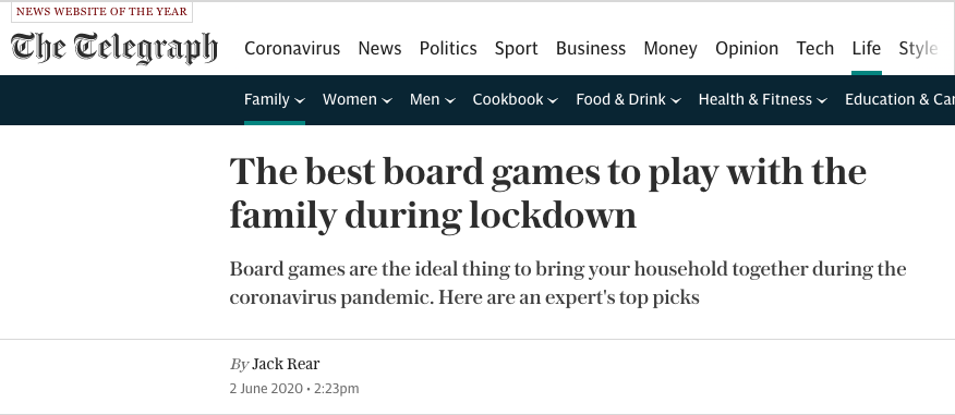 The best board games to play with the family during lockdown