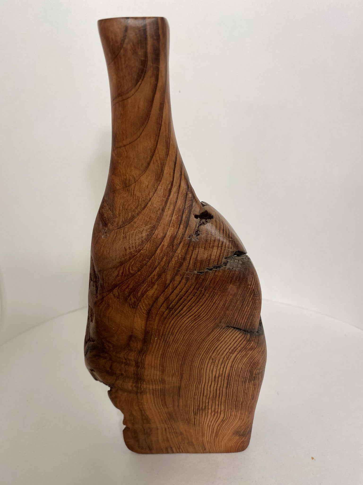 Red Wood Burl Bud Vase