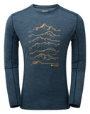 PRIMINO 140 SUMMITS LONG SLEEVE T-SHIRT Narwhal Blue