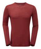 Primino 140g Long sleeve t-shirt Redwood
