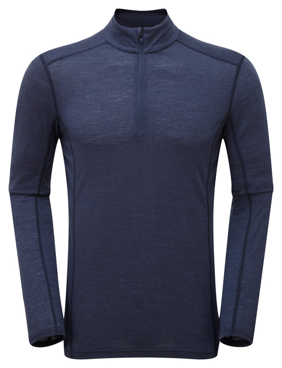 PRIMINO 140 ZIP NECK Antarctic Blue