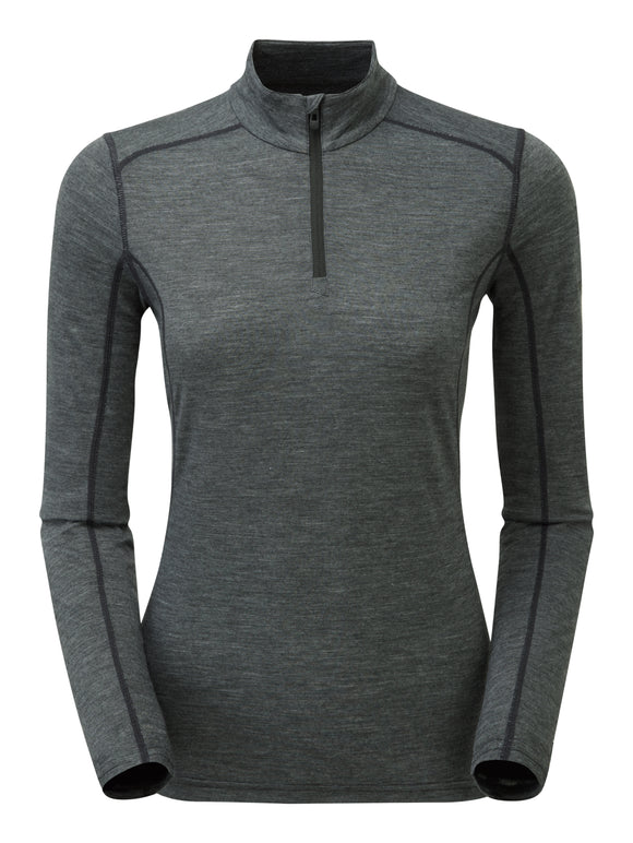 WOMEN'S PRIMINO 140 ZIP NECK Black