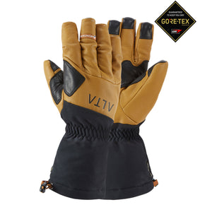 mountaineering glove with Gore tex insert Black and Brown Leather outter