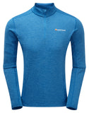Dart Long Sleeve t-shirt with Zip neck Electric Blue