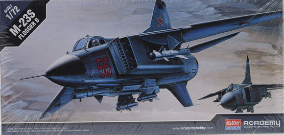 Academy 12445 - MiG27 M-23S Flogger B, Former Soviet Fighter Jet, 1:72 Scale