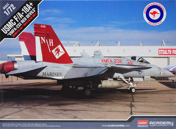 Academy 12520 - USMC F/A-18A, VMFA-232 Red Devils, AUS Decals, 1:72 Scale