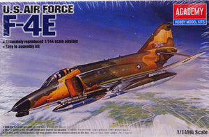 Academy 12605 - USAF F-4E Phantom Fighter Bomber Jet, 1:144 Scale