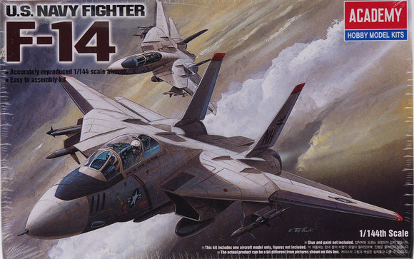 Academy 12608 - F-14 Tomcat Fighter Bomber Jet, 1:144 Scale