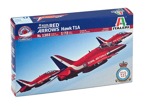 Italeri 1303, RAF Red Arrows Hawk T1A, Scale 1:72
